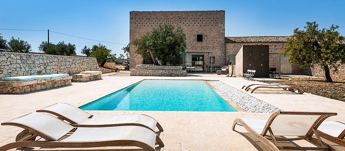 Le Edicole Designer Villa mit Pool zur Miete auf dem Land Ragusa Sizilien  - 0