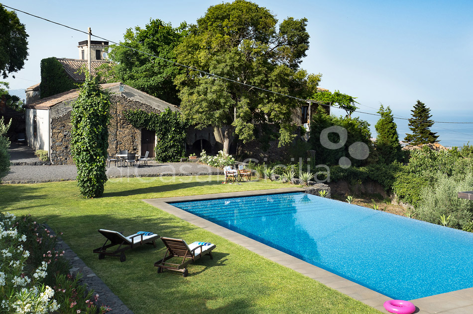 Montebello Villa with Pool & Hot Tub for rent Milo Mount Etna Sicily - 3