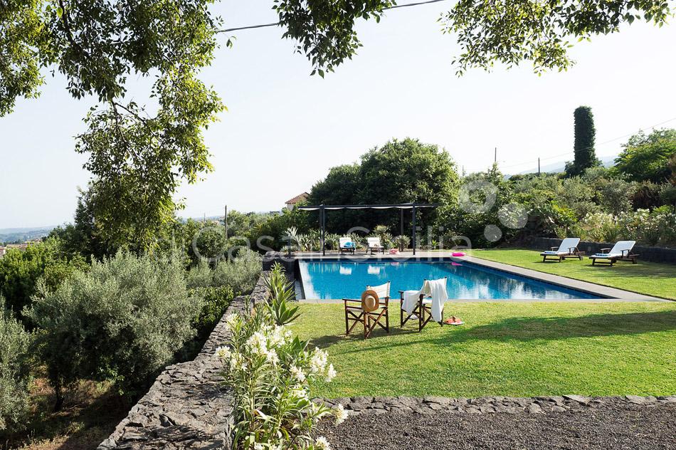 Montebello Villa mit Pool und Whirlpool zur Miete Milo Etna Sizilien - 9