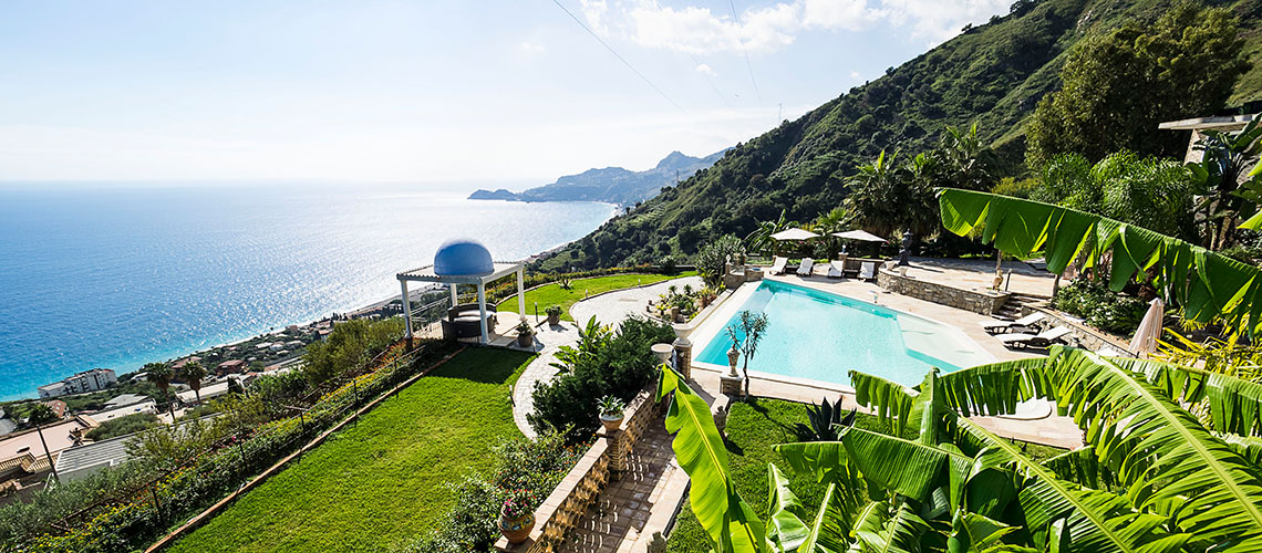 Buena Vista Luxury Seafront Villa with Pool for rent Taormina Sicily - 0