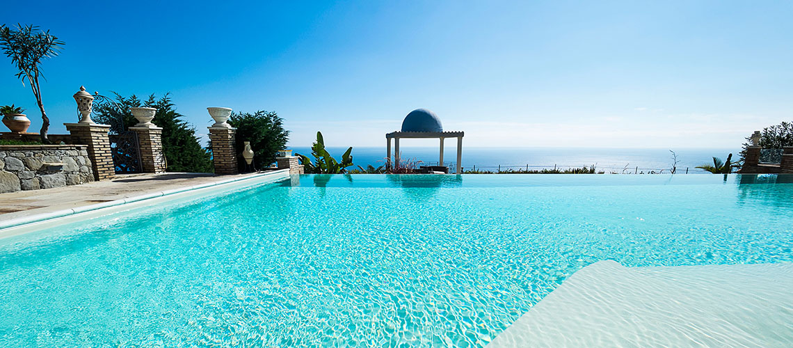 Buena Vista Luxury Seafront Villa with Pool for rent Taormina Sicily - 1
