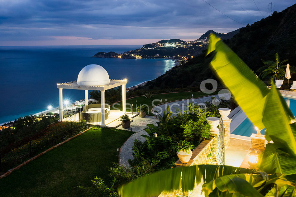 Buena Vista Luxury Seafront Villa with Pool for rent Taormina Sicily - 48