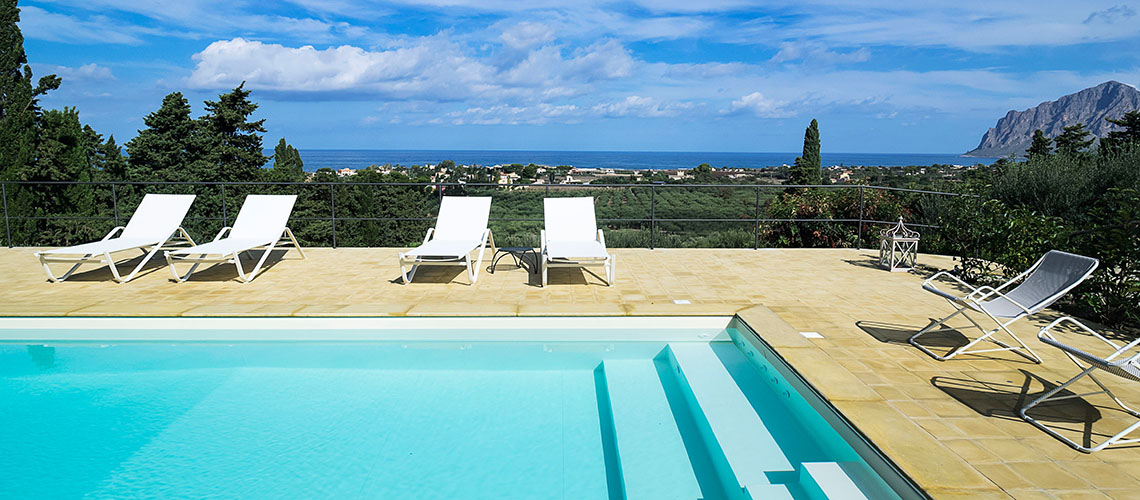 Casa Valderice Sea View Villa with Pool for rent near Erice Sicily - 0
