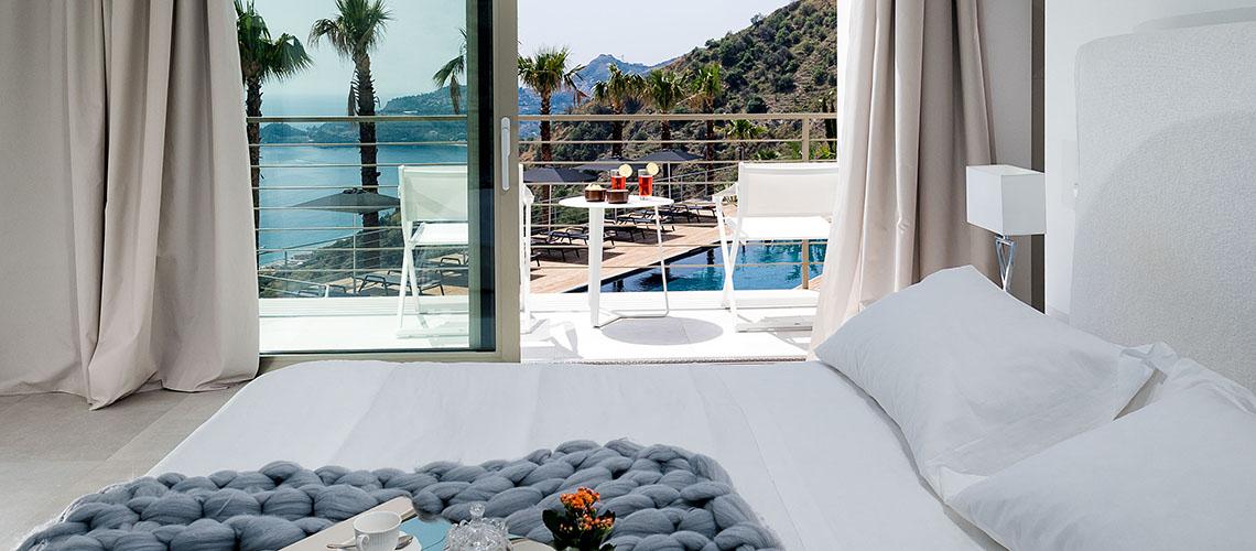 Alexandra Villa Lusso Vista Mare con Piscina affitto Taormina Sicilia - 3
