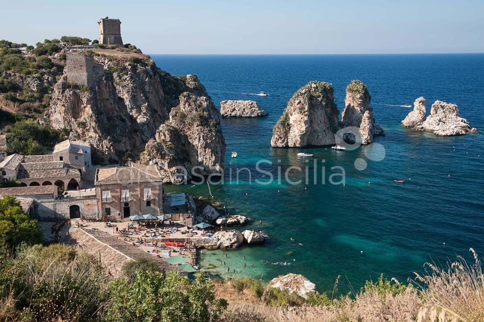 Cialoma Sea View Villa with Pool for rent in Scopello Sicily - 34