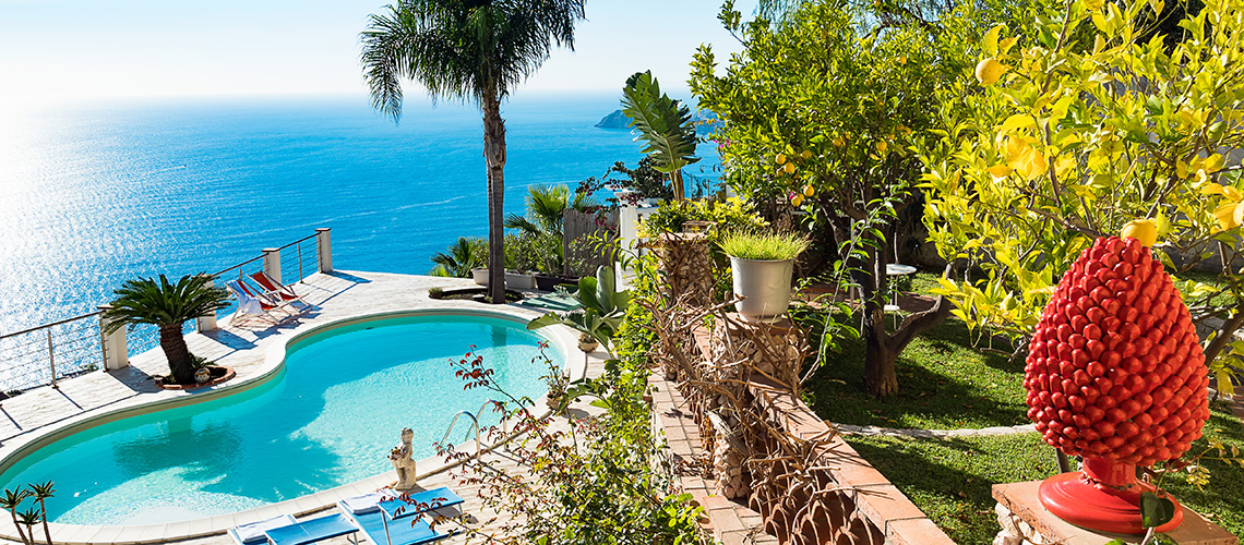 Villa Luce Sea View Luxury Villa with Pool for rent Taormina Sicily - 0