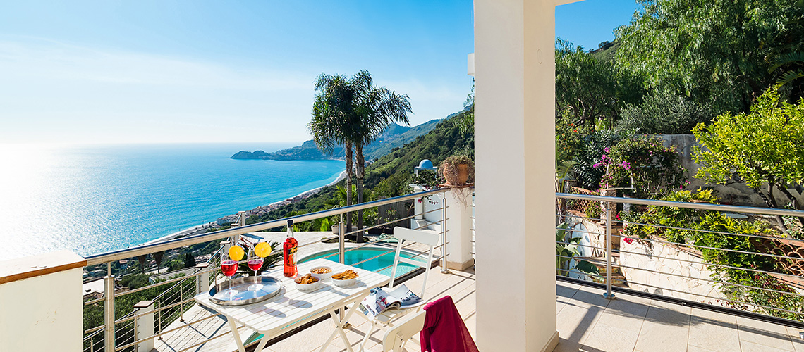 Villa Luce Sea View Luxury Villa with Pool for rent Taormina Sicily - 1
