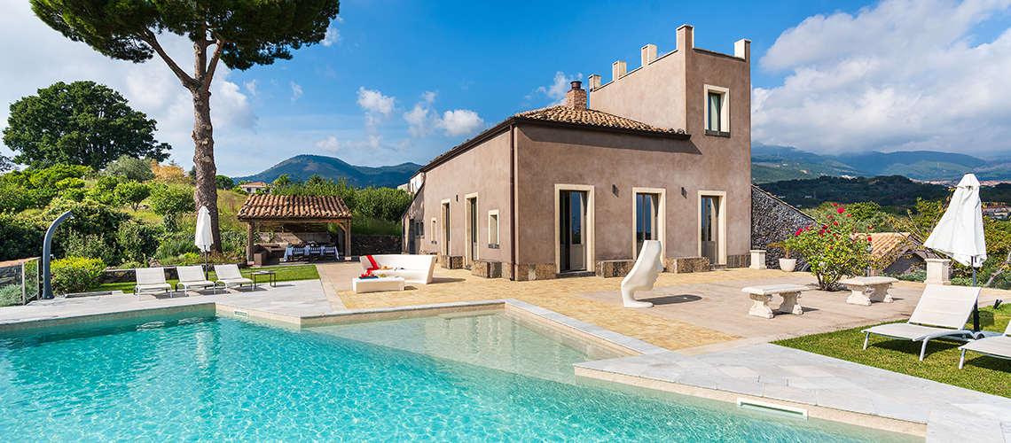 La Torretta Luxury Villa with Pool and Spa for rent Mount Etna Sicily - 1