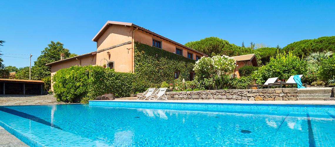 Palmento La Rosa Sicily Villa Rental with Pool Trecastagni Mount Etna - 0